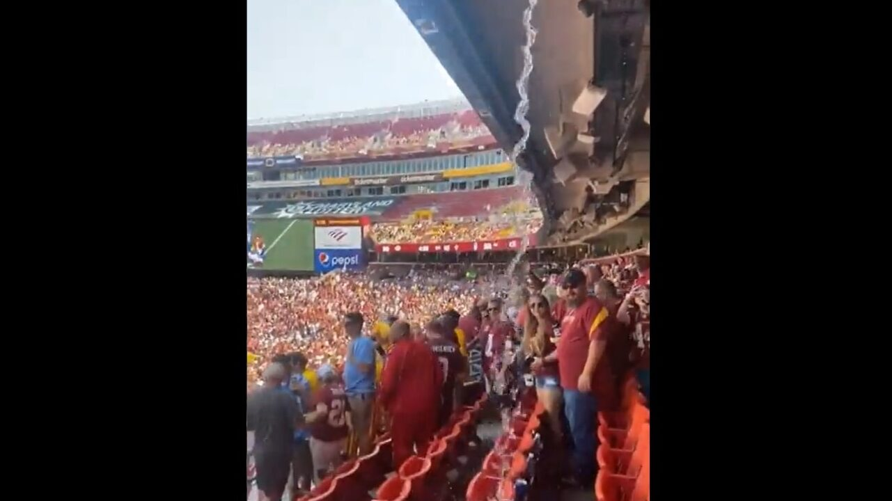 Fans believe sewage is raining on them at FedEx Field during Washington Football Team game