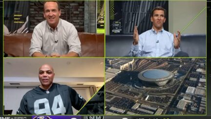 Charles Barkley wears Carl Nassib jersey on Monday Night Football