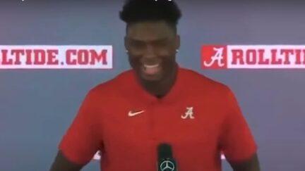 Jordan Battle tells reporters his favorite coaching quip from Nick Saban