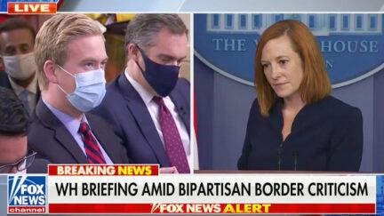 Peter Doocy Questions Jen Psaki on Border, Biden