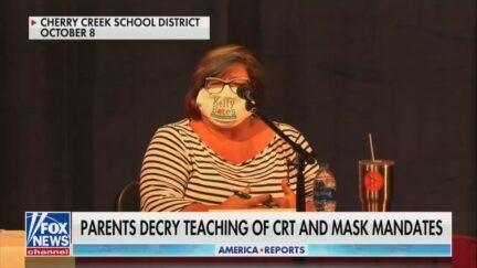 Kelly Bates, school board candidate saying