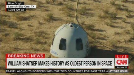 CNN William Shatner Launch