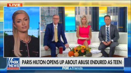 Paris Hilton Appears on Fox & Friends