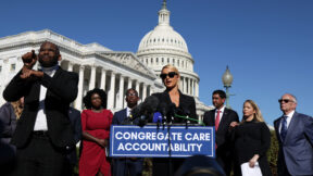 Lawmakers Hold Press Conference On Child Abuse With Paris Hilton