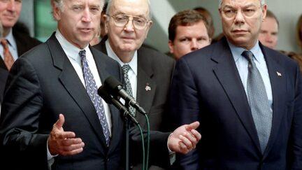 Joe Biden and Colin Powell