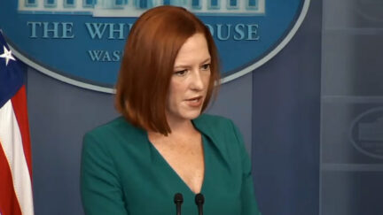 Jen Psaki conducts White House press briefing on October 6, 2021.