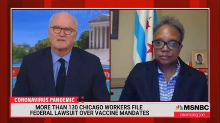 Mike Barnicle and Chicago Mayor Lori Lightfoot on MSNBC on Oct. 28