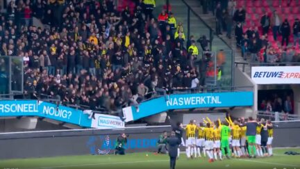 WATCH: Stands Collapse at Dutch Soccer Match