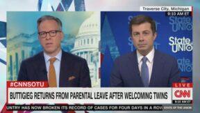 Jake Tapper Asks Pete Buttigieg About Paternity Leave