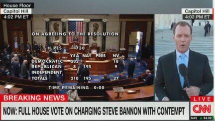 CNN report on Bannon contempt vote