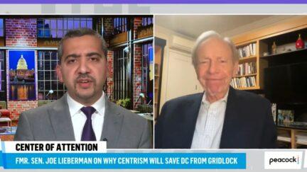 Mehdi Hasan grilling Joe Lieberman on Iraq