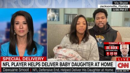 NFL's Dawuane Smoot details at home birth on CNN