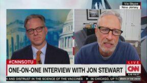 Jon Stewart Blasts the Media for Overhyping Stories