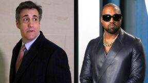 Kanye West wears a strange mask to meet with Michael Cohen