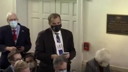 Brian Karem at White House Briefing
