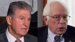 Joe Manchin and Bernie Sanders
